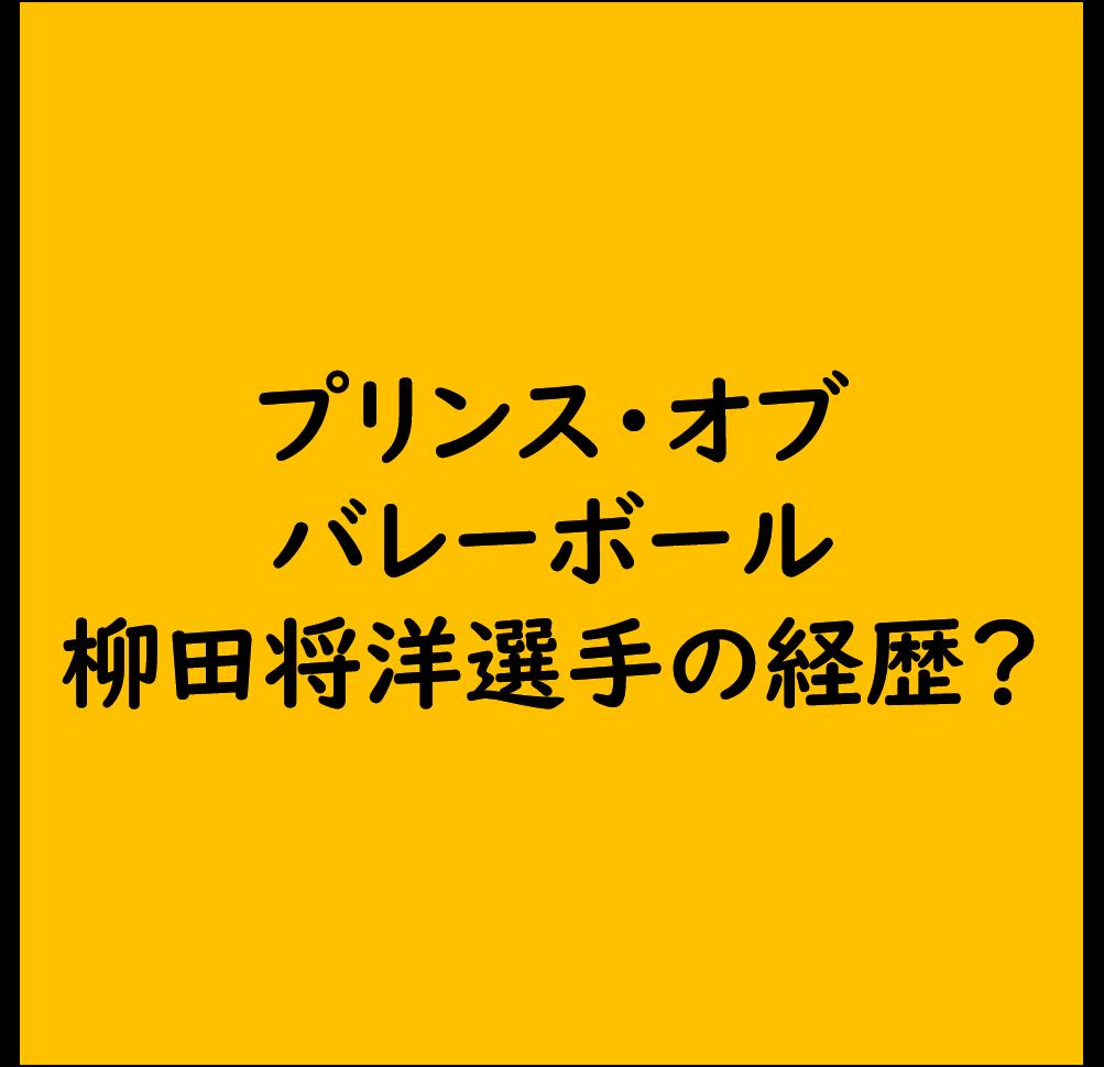 【プリンス オブ バレーボール】柳田将洋選手の経歴は?