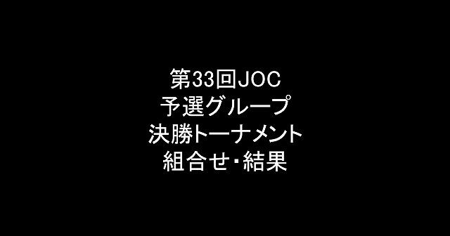 【中学バレー】第33回 JOC 予選グループ、決勝トーナメント 組み合わせと結果