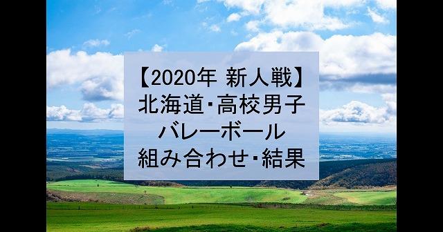 【2020年 新人戦】北海道・高校新人バレーボール大会(男子)組み合わせ、結果