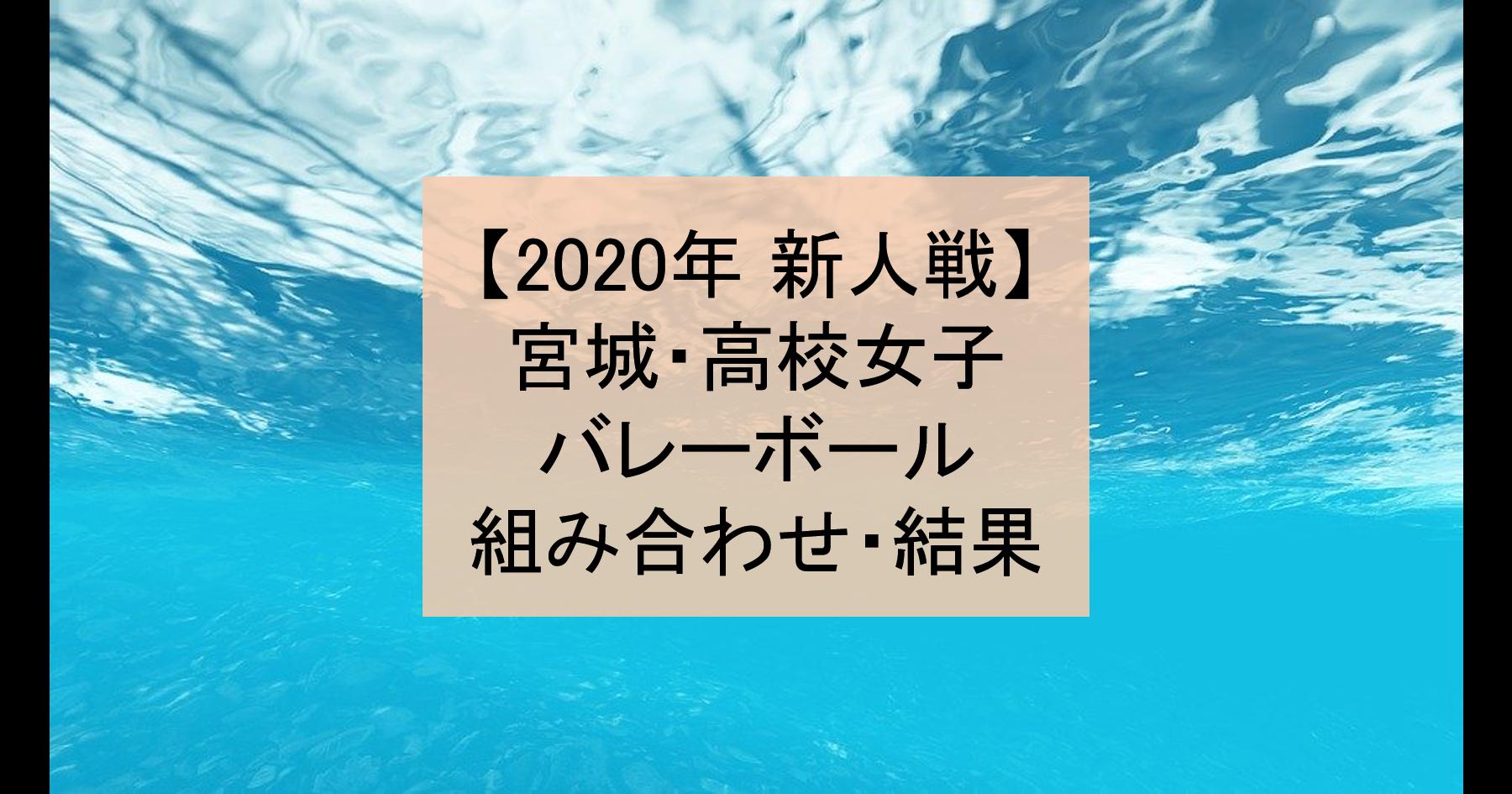 【2020年 新人戦】宮城・高校新人バレーボール大会(女子)組み合わせ、結果