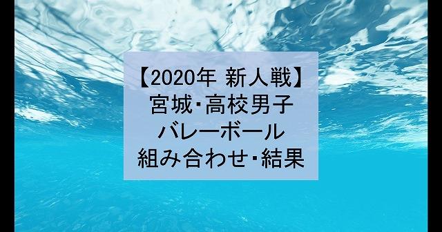 【2020年 新人戦】宮城・高校新人バレーボール大会(男子)組み合わせ、結果
