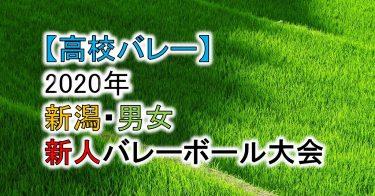 【2020年 高体連】新潟・高校新人バレーボール大会(男女)組合せ、結果