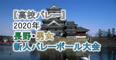 【2020年 高体連】長野・高校新人バレーボール大会(男女)組合せ、結果