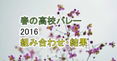 【2016 春高バレー】トーナメント組み合わせと結果一覧、優秀選手