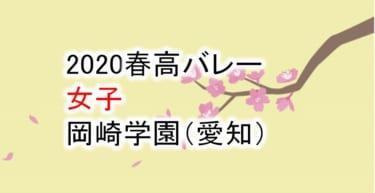 【2020 春高バレー】女子 岡崎学園(愛知)チームメンバー紹介!