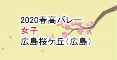 【2020 春高バレー】女子 広島桜ケ丘(広島)チームメンバー紹介!