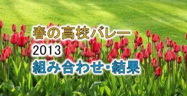 【2013 春高バレー】トーナメント組み合わせと結果一覧、優秀選手