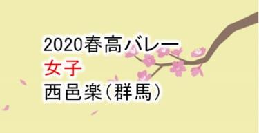 【2020 春高バレー】女子 西邑楽(群馬)チームメンバー紹介!