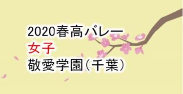 【2020 春高バレー】女子 敬愛学園(千葉)チームメンバー紹介!