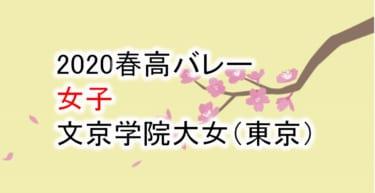 【2020 春高バレー】女子 文京学院大女(東京)チームメンバー紹介!