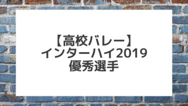 【バレーボール】2019インターハイ 表彰・優秀選手一覧