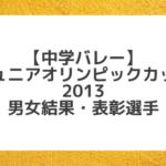 【中学バレー】2013 第27回ジュニアオリンピックカップ(JOC)結果と優秀選手