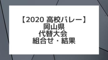【2020年 高校バレー】岡山|県高校総体代替大会 組合せ、結果、要項