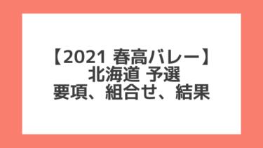 北海道 2021春高予選|第73回全日本バレー高校選手権 結果、組合せ、大会要項