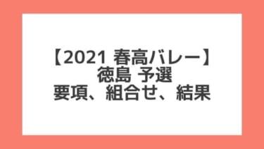 徳島 2021春高予選|第73回全日本バレー高校選手権 結果、組合せ、大会要項