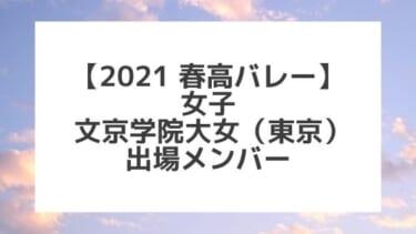 【2021春高バレー】文京学院大女(東京女子代表)メンバー紹介!