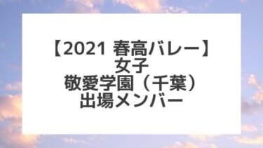 【2021春高バレー】敬愛学園(千葉女子代表)メンバー紹介!