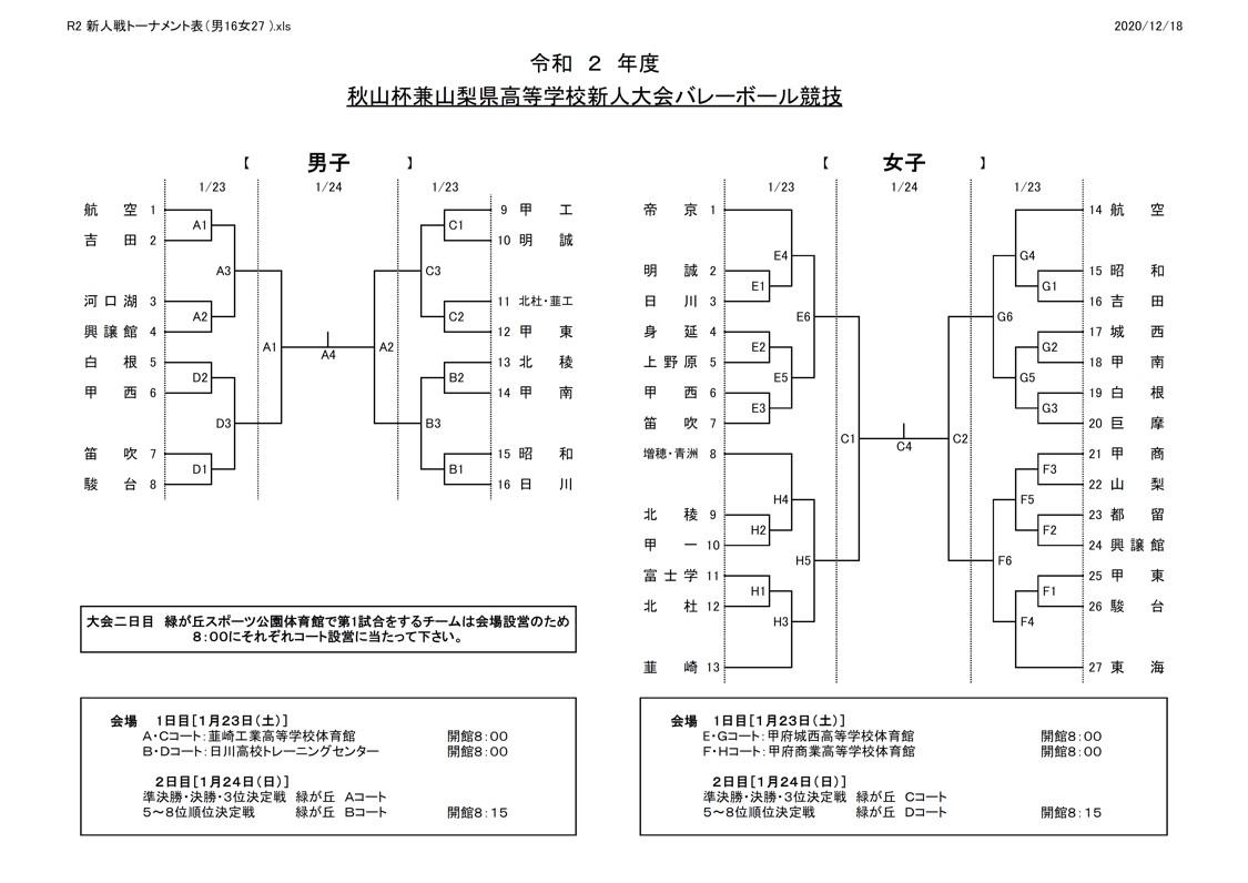 2020年度_高校新人大会_山梨_男女_組合せ