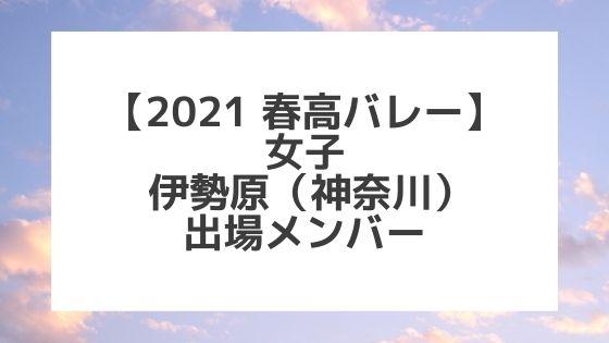 【2021春高バレー】伊勢原(神奈川女子代表)メンバー紹介!