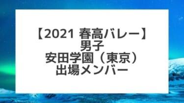 【2021春高バレー】安田学園(東京男子代表)メンバー紹介!