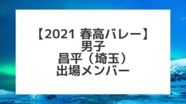 【2021春高バレー】昌平(埼玉男子代表)メンバー紹介!