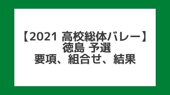【高校総体バレー2021】徳島インターハイ予選|結果、組合せ、大会要項