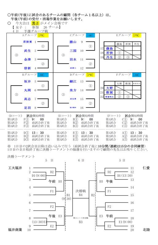 2021年度_インターハイ予選_福井県予選_女子_組合せ