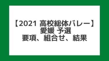 【高校総体バレー2021】愛媛インターハイ予選|結果、組合せ、大会要項
