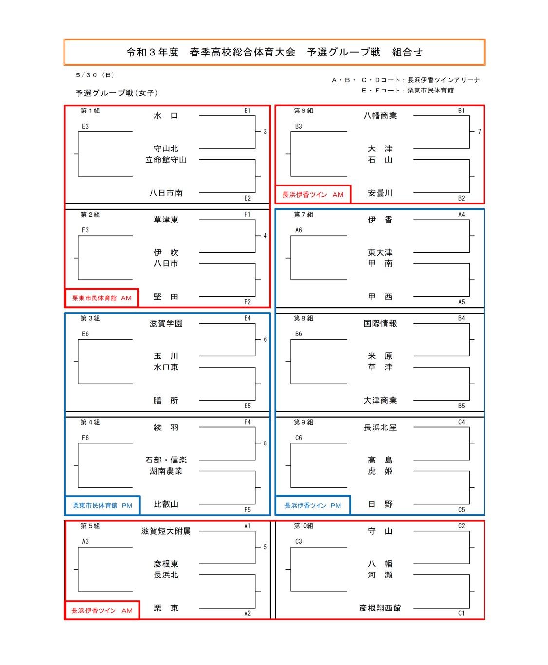 2021年度_インターハイ予選_滋賀県予選_女子_組合せ1